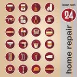 Icona di web messa - strumenti domestici di riparazione Fotografia Stock Libera da Diritti