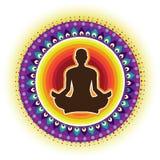 Icona di yoga Fotografia Stock Libera da Diritti