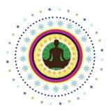 Icona di yoga Fotografie Stock Libere da Diritti