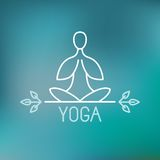 Icona di yoga di vettore Fotografie Stock Libere da Diritti