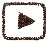 Icona di Youtube su fondo bianco Fotografia Stock Libera da Diritti