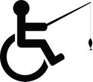 Icona disabile di pesca Fotografie Stock Libere da Diritti