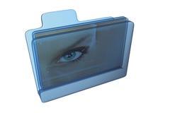 Icona - dispositivo di piegatura con l'immagine all'interno Fotografie Stock