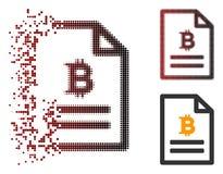 Icona dissipata di Dot Halftone Bitcoin Price Page Royalty Illustrazione gratis