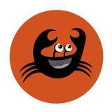 Icona divertente del granchio Fotografia Stock