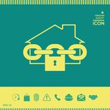 Icona domestica della serratura Immagine Stock