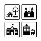 Icona domestica, icone delle Camere messe Immagini Stock