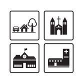 Icona domestica, icone delle Camere messe Fotografia Stock Libera da Diritti