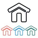 Icona domestica semplice, illustrazione di vettore Fotografia Stock