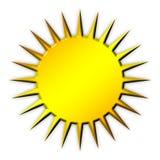 Icona dorata di Sun Fotografia Stock