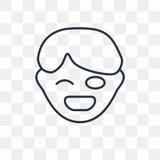 Icona dura di vettore isolata su fondo trasparente, Tou lineare illustrazione vettoriale