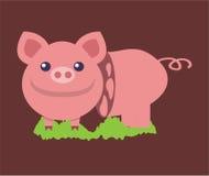 Icona e logo rosa di porcellino Fotografia Stock Libera da Diritti