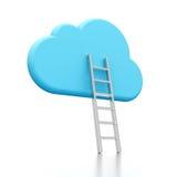 Icona e scaletta della nube Fotografie Stock Libere da Diritti