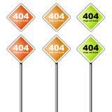 Icona e segno di errore 404 Fotografia Stock Libera da Diritti