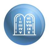 Icona ebrea delle pietre, stile del profilo illustrazione di stock