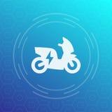 Icona elettrica del motorino, pittogramma Immagini Stock