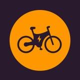 Icona elettrica della bici, trasporto ecologico Fotografie Stock Libere da Diritti