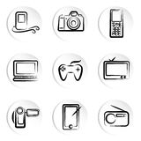 Icona elettronica Fotografia Stock