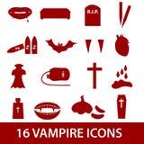 Icona eps10 stabilito del vampiro Illustrazione di Stock