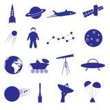 Icona eps10 stabilito dello spazio Royalty Illustrazione gratis
