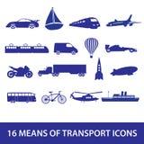Icona eps10 stabilito di mezzi di trasporto Illustrazione di Stock