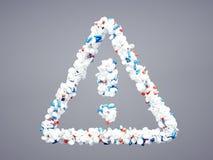Icona farmaceutica di attenzione Fotografia Stock