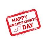 Icona felice di saluto del bollo di giorno dei nonni Fotografie Stock