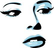 Icona femminile Fotografie Stock Libere da Diritti