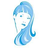 Icona femminile Fotografia Stock Libera da Diritti