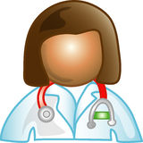Icona femminile del medico Fotografie Stock
