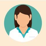 Icona femminile di progettazione di medico Immagini Stock Libere da Diritti