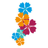 icona floreale della decorazione dell'Hawai illustrazione di stock
