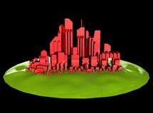 Icona futura della città immagini stock