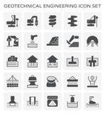 Icona geotecnica di ingegneria illustrazione di stock