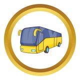 Icona gialla del bus turistico illustrazione vettoriale