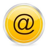 Icona gialla del cerchio del email Fotografie Stock Libere da Diritti
