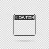 icona gialla del segno di cautela di simbolo, punto esclamativo, icona pericolosa d'avvertimento su fondo trasparente illustrazione di stock