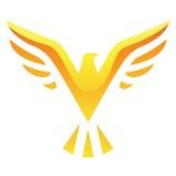 Icona gialla dell'uccello Fotografia Stock