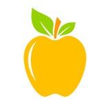 icona gialla della mela Immagini Stock Libere da Diritti