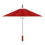 Icona giapponese tradizionale dell'ombrello del fumetto Immagini Stock Libere da Diritti