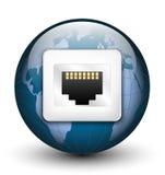 Icona globale del collegamento Fotografie Stock