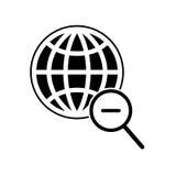 Icona globale di ricerca Immagine Stock