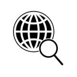 Icona globale di ricerca Fotografia Stock