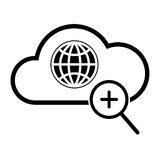 Icona globale di ricerca Immagini Stock