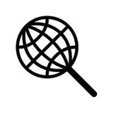 Icona globale di ricerca Fotografie Stock