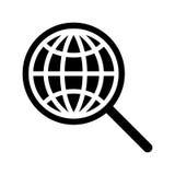 Icona globale di ricerca Fotografie Stock Libere da Diritti