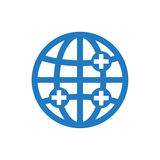 Icona globale di sanità Fotografia Stock Libera da Diritti