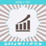 Icona grafica crescente delle barre con la freccia in aumento Elementi grafici per la vostra progettazione illustrazione vettoriale