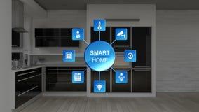 Icona grafica di informazioni di controllo degli elettrodomestici della stanza della cucina, efficienza economizzatrice d'energia illustrazione vettoriale