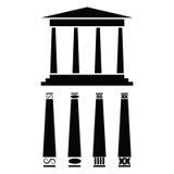 Icona greca del tempiale Immagini Stock Libere da Diritti